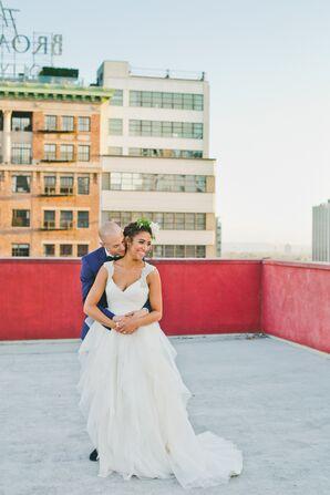 Elegant White Bridal Gown