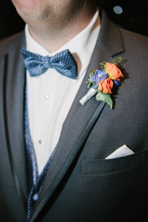 Rose and Iris Boutonniere