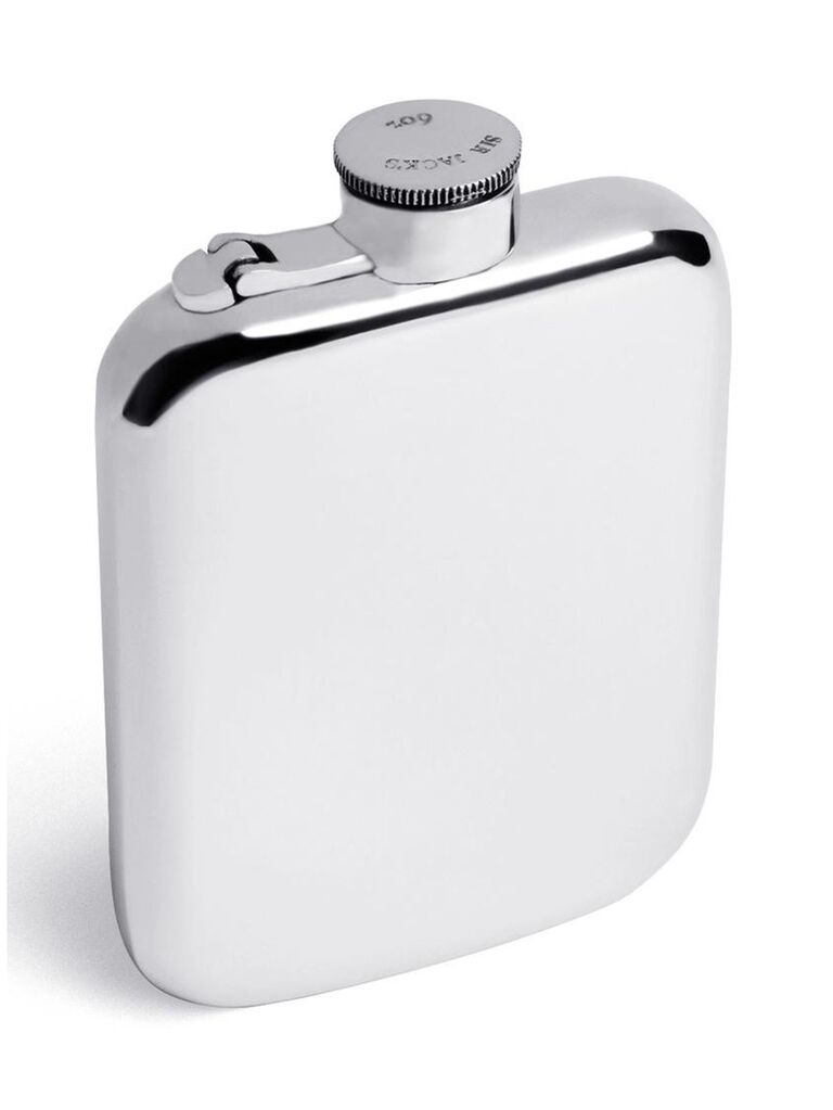 sir jacks silver flask for bachelor party favors
