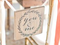You + me sign for wedding reception
