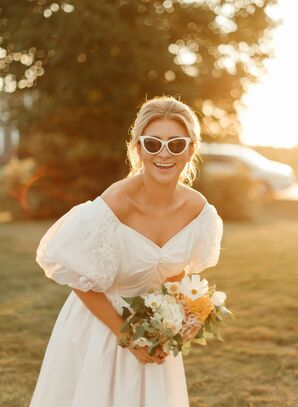 Bride Turned Mother's Wedding Dress Into a Vintage Summer Frock