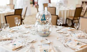 Beach-Inspired Sand and Seashell Centerpieces