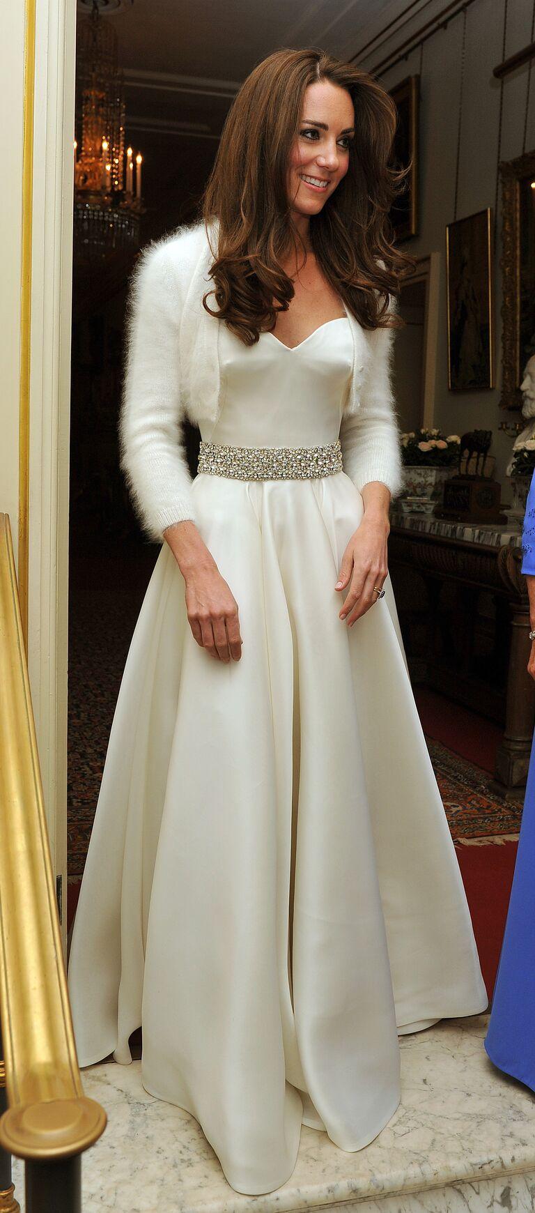 Kate will wedding bolero reception gown