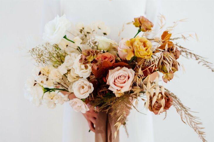 Bohemian Bouquet at Modern and Minimal Wedding in San Diego, California