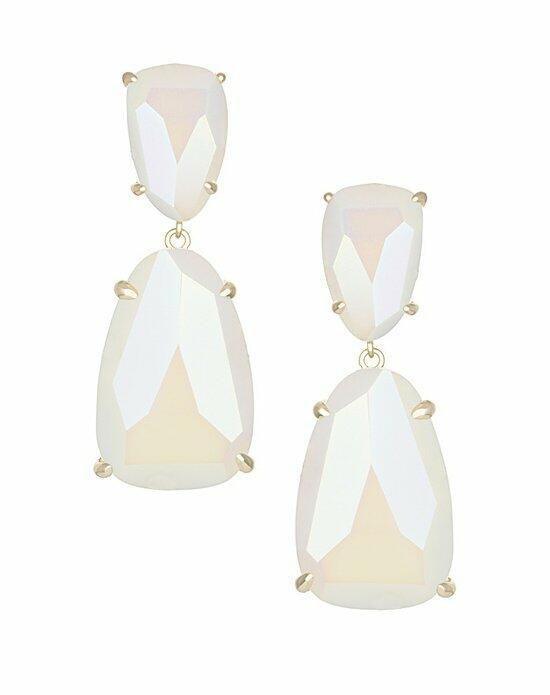 Kendra Scott Katie Statement Earrings in Iridescent White Wedding Earrings photo