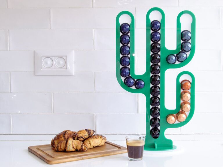 Cactus coffee pod organizer bridal shower gift idea
