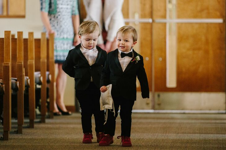 Adorable Ring Bearers at Church Wedding in Michigan