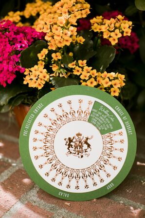 Circular Sliding Menu Card with Harry Potter–Themed Crest
