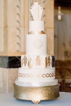 Tiered Wedding Cake at The Grand Hall at Power & Light in Kansas City, Missouri