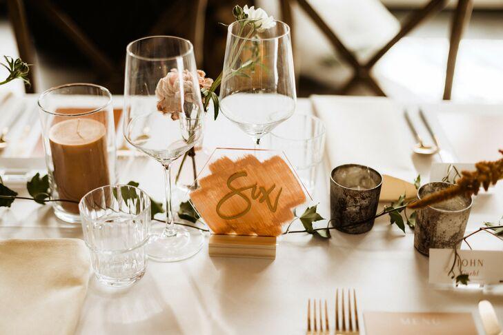 Acrylic Table Number for Reception at Surf Hotel in Buena Vista, Colorado