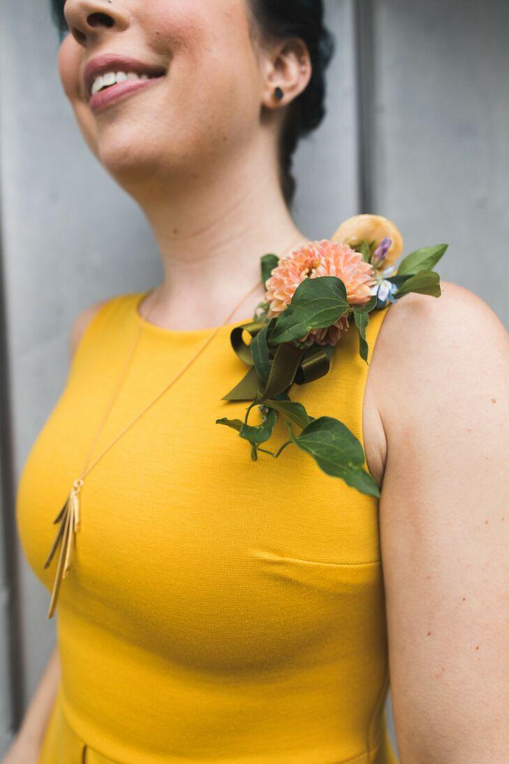 Canary Yellow Bridesmaid Dress at The Philadelphia Glider Council in Perkasie, Pennsylvania