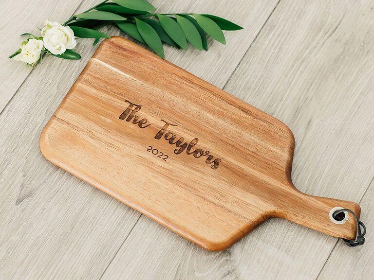 Wood servivng board