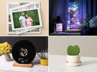 Collage of gift ideas for girlfriend