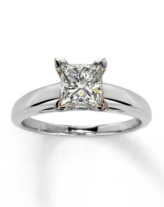 Kay Jewelers Diamond Solitaire Ring 1 1/2 ct Princess-Cut 14K White Gold-161234505 Engagement Ring photo