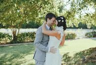Megan and Brent said I do in an outdoor ceremony at the Historic Carnton Plantation in Franklin, TN. The couple incorporated a mix of rustic and moder
