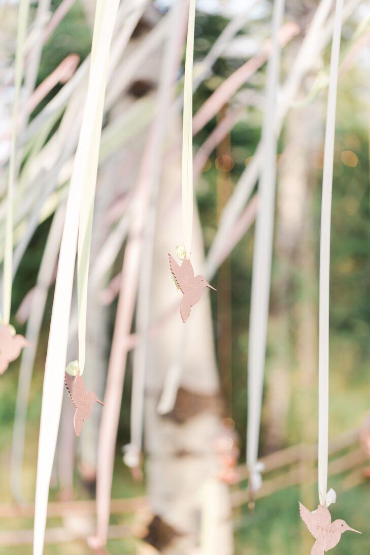 Laser Cut Hummingbird Ribbon Backdrop