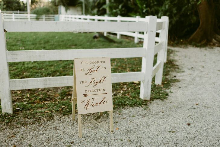 Rustic Wood Sign with Calligraphy