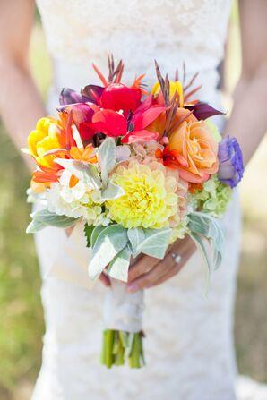 Vibrant Seasonal Bridal Bouquet