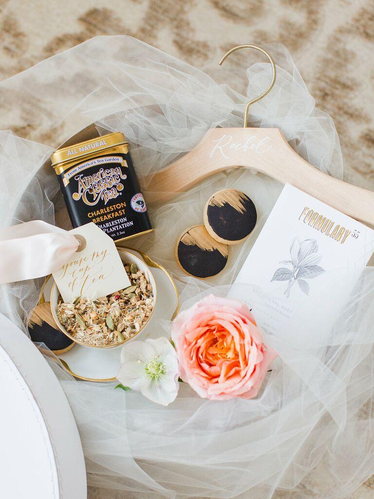 Bridesmaid gift basket by Marigold and Grey