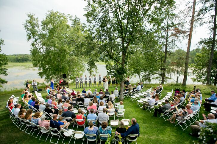 Summer Backyard Wedding Ceremony