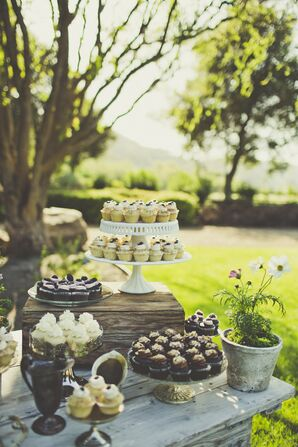 Eclectic Cupcake Table