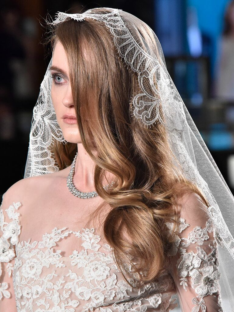 Classic glamorous waves for a wedding hairstyle for long hair