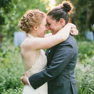 Brides with up-do hairstyle