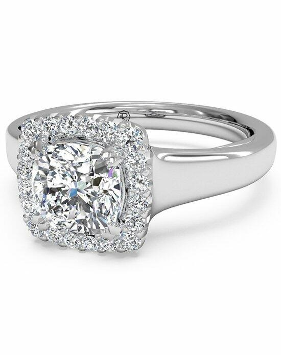 Ritani Cushion French-Set Halo Diamond Engagement Ring in 18kt White Gold (0.13 CTW) Engagement Ring photo