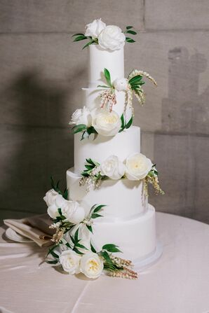 Four-Tier Wedding Cake at The Hempstead House in Sands Point, New York