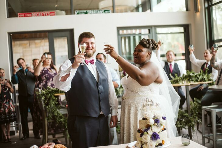 Casual Toast with Bride and Groom
