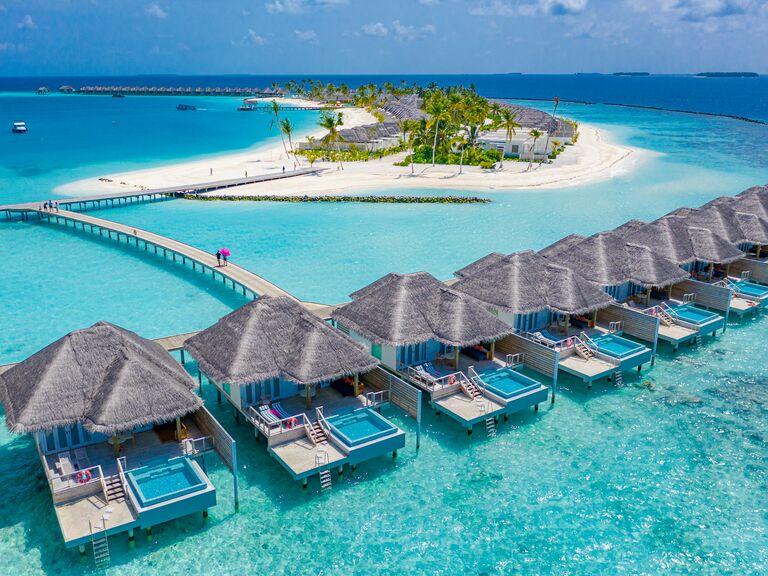 private waterfront villas in Maldives, Asia
