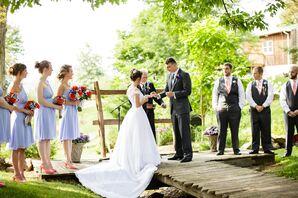 Highland Vue Farms Bridge Wedding Ceremony