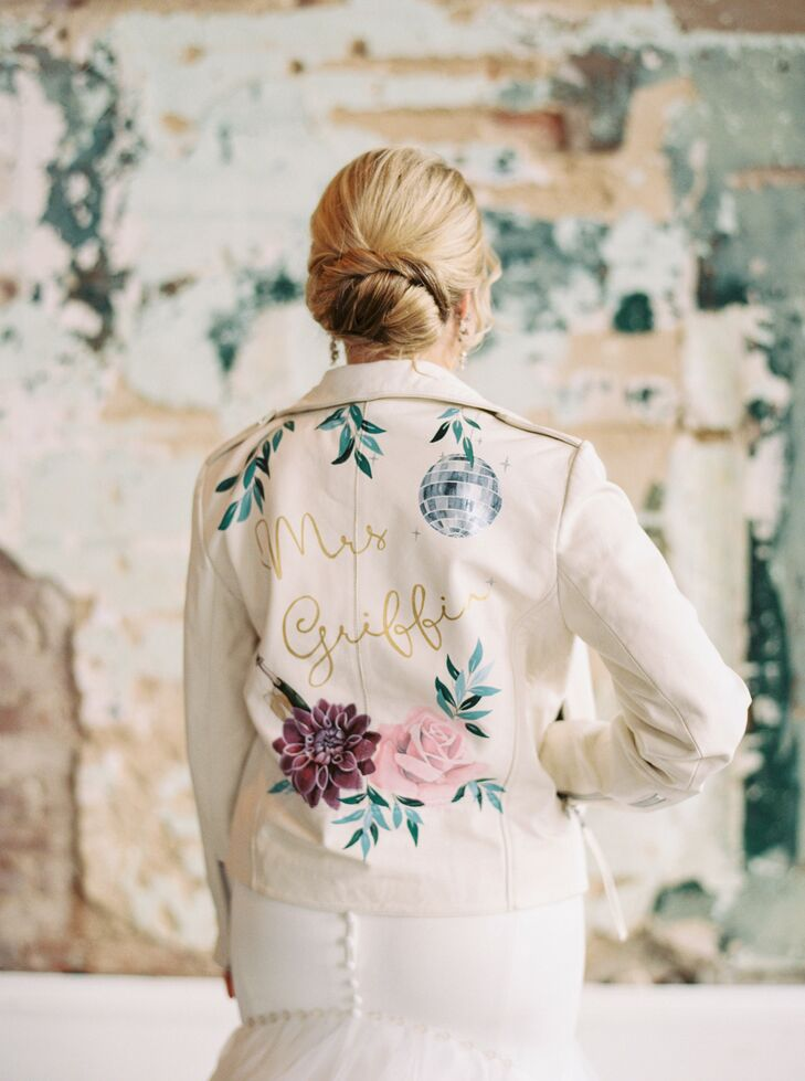 Custom Leather Jacket for Wedding  at 701 Whaley in Columbia, South Carolina