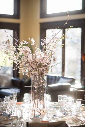Romantic, Tall Cherry Blossom Centerpiece