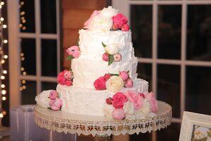 DIY Buttercream Wedding Cake With Pink Peonies