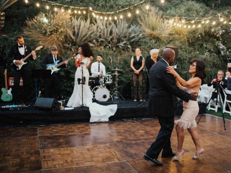 bride's parents on dance floor