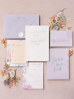 Purple Wedding Paper Suite at Greengate Ranch and Vineyard in San Luis Obispo, California