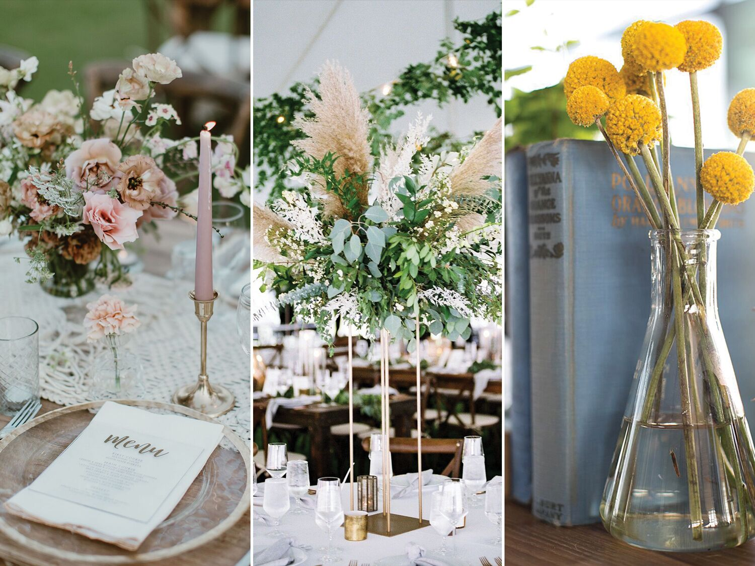57 Wedding Centerpiece Ideas That Are Trending In 2020