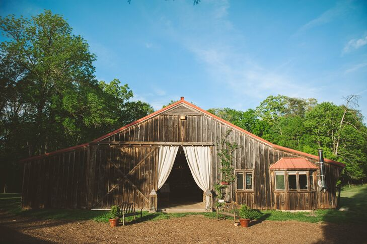After an intimate ceremony overlooking the Potomac River, the celebration moved to the barn for dinner and dancing.