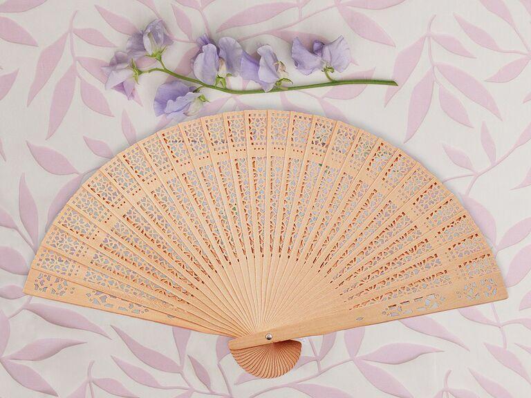 Elegant sandalwood hand fan