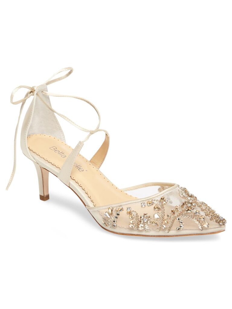 Beaded sparkly wedding heels