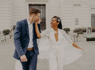 """Charmaine Vegas (40 and a jeweler) and Brandon Neddersen (34 and a planning manager) are Long Beach residents. """"Our wedding had to exemplify us: uncon"""