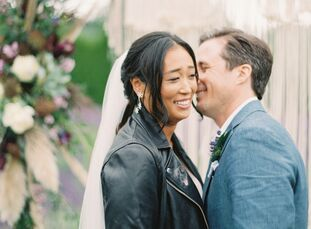 """Stella Cha and Jim Fausto planned a relaxed, bohemian fete filled with their favorite things for their summer wedding in Redmond, Washington. """"I strug"""