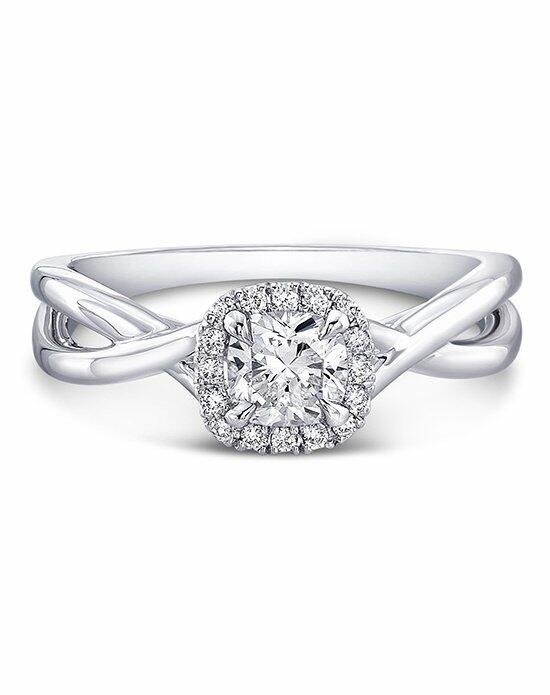 Forevermark Diamond Engagement Rings CENTER OF MY UNIVERSE™ TWISTED SHANK RING/FMR1010CU Engagement Ring photo