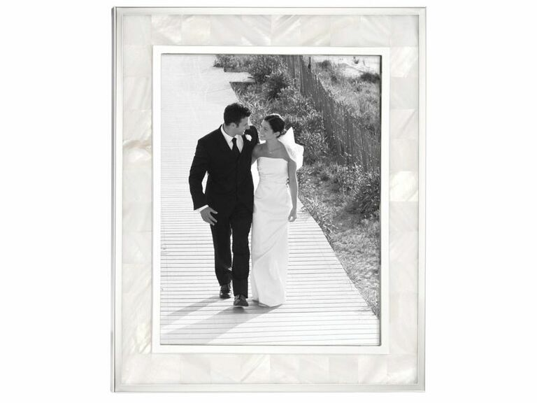 Mother of pearl wedding picture frame