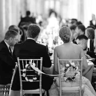 Traditional wedding reception