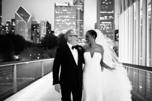 Bride and Groom Portraits at The Chicago Art Institute