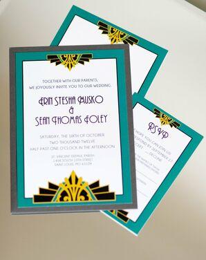 Art Deco Style Invitations
