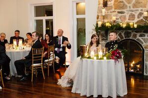 Sweetheart Table With Elegant Candlelight