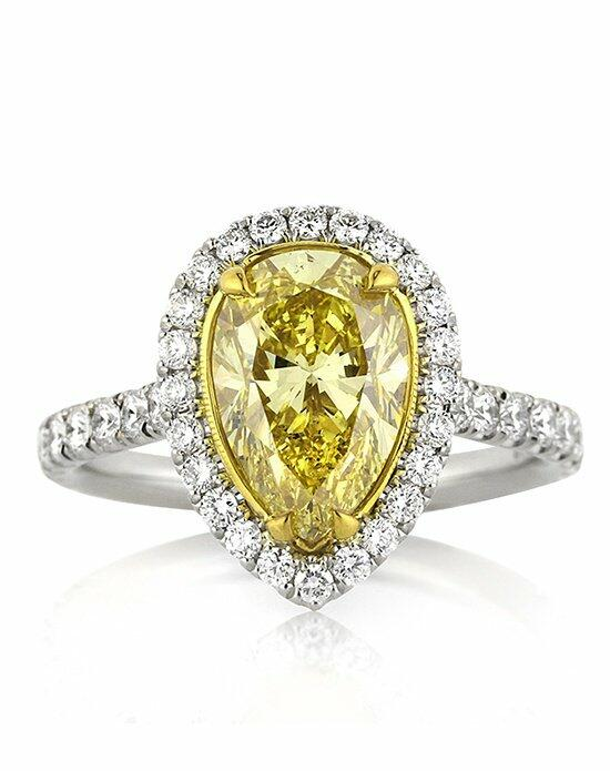 Mark Broumand 3.65ct Fancy Intense Yellow Pear Shaped Diamond Engagement Ring Engagement Ring photo